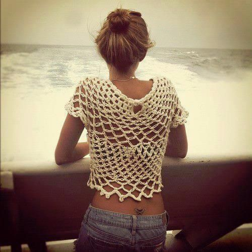 fish netting swimsuit cover-up...it  wouldn't cover much but its a cute idea and perfect for the beach
