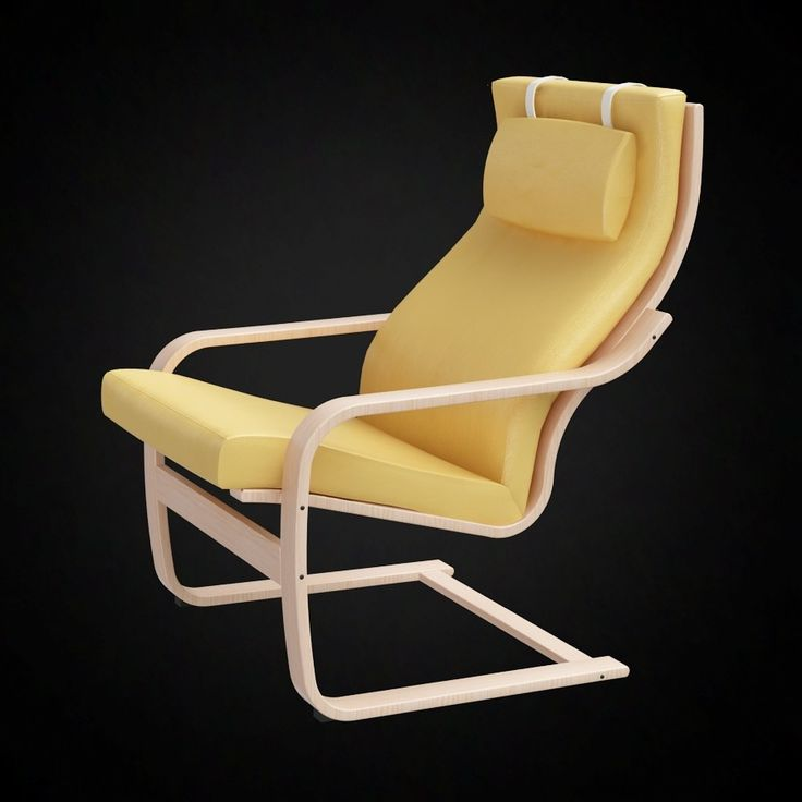 Ikea Poang Chair - 3D furniture model - Use PROMO CODE: pin3d and get 20% off - $9.00
