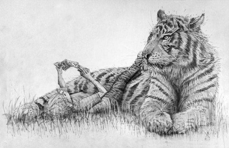 красивые картинки,Traditional art,Кельвин и Хоббс,tomasoverbai