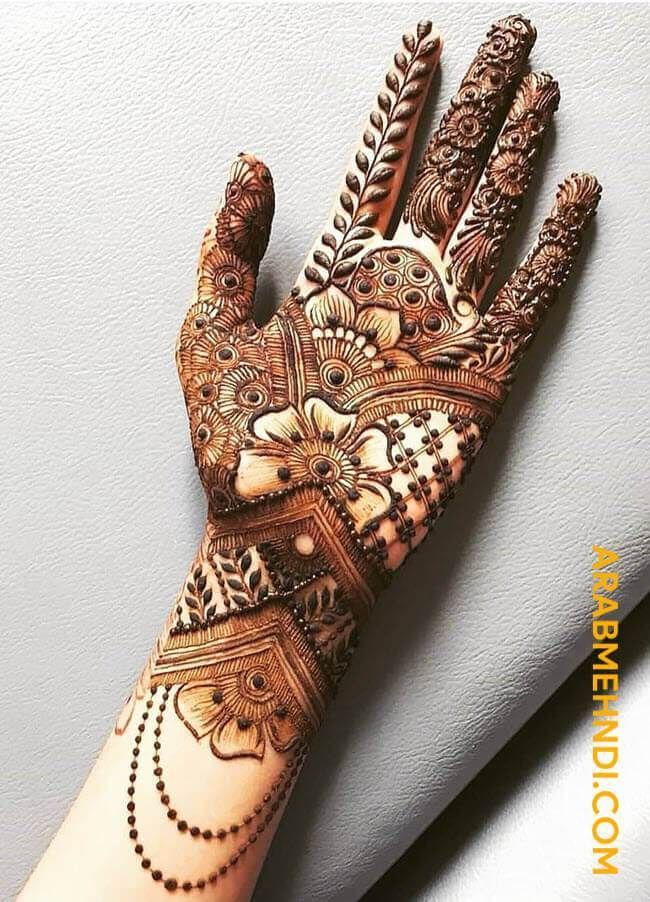 beautiful front hand mehndi design