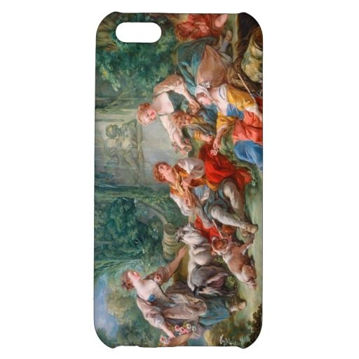 francois boucher shepherd's idyll rococo scenery case for iPhone 5C