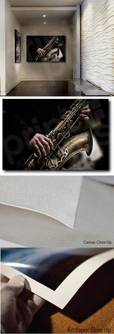 Posters and Prints 41511: Selmer Jazz Saxophone Music Canvas Fine Art Poster Print Home Wall Decor -> BUY IT NOW ONLY: $59.99 on eBay!