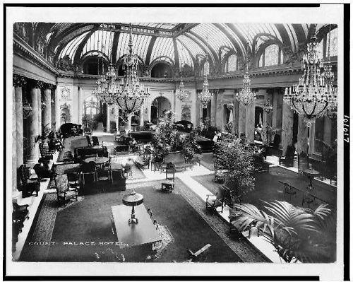 Garden Court of the Palace Hotel, San Francisco, California (1912)
