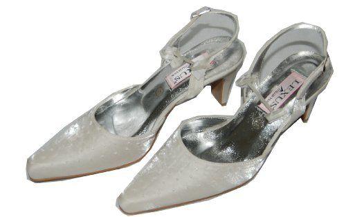 Brautschuh aus Satin mit Perlen, mit Riemchen, Sonderpreis, Absatz 6 cm - http://on-line-kaufen.de/am-laufsteg/brautschuh-aus-satin-mit-perlen-mit-riemchen-6-cm