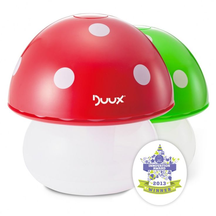 Air humidifers are always so clumpy and ugly - but not anymore! How cute are these mushrooms, plus they double as night lights!