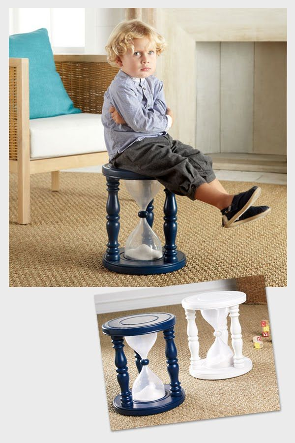 time out chair - uses items from hardware store and two 2 liter pop bottles