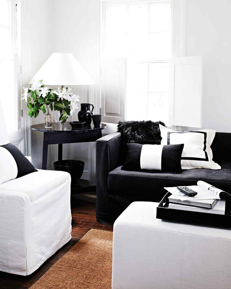 Make a big statement martha stewart living a solid for Black and neutral living room