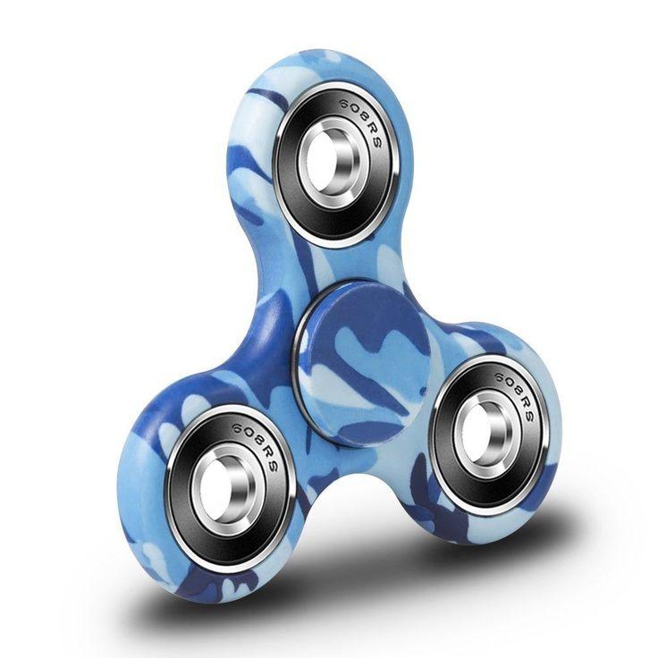 Biboom EDC Tri Fidget Spinner Finger Stress Reducer Toy 3mins Spinning Time for  #Biboom