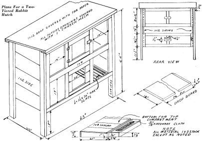 Free rabbit hutch project plans things to build for Hutch plans free