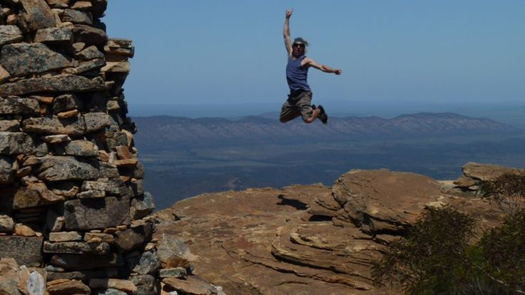 Jumping for joy in the Flinders Ranges by Clancy of Australia