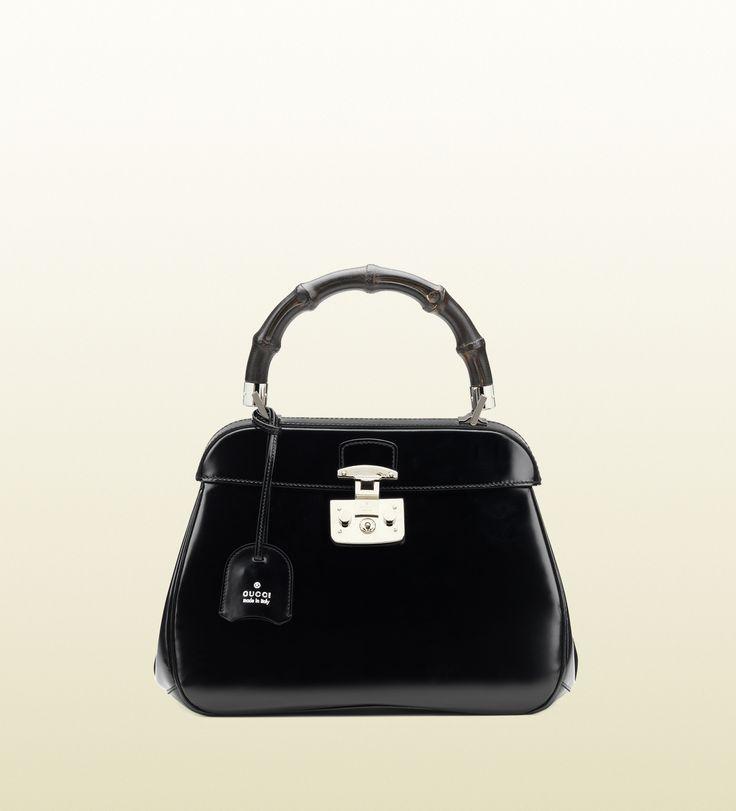 borsa a mano lady lock in pelle - Gucci | Fine Jewels ...
