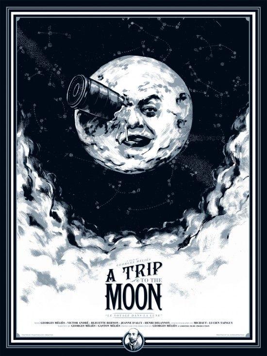 Viaje a la Luna, de Georges Méliès (1902) - the very first sci-fi film ever made