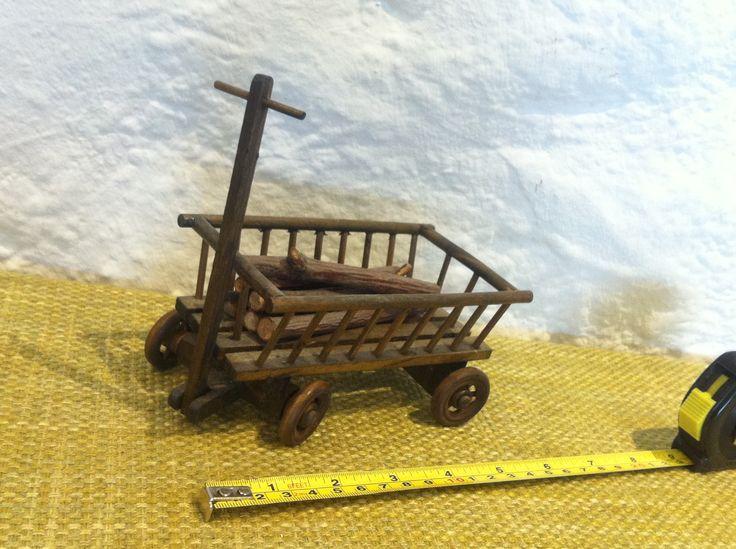 Vintage Puppenstuben Accessoires Holz Wagen Leiterwagen Bauernhof Zubehör Handarbeit von Antikladen auf Etsy