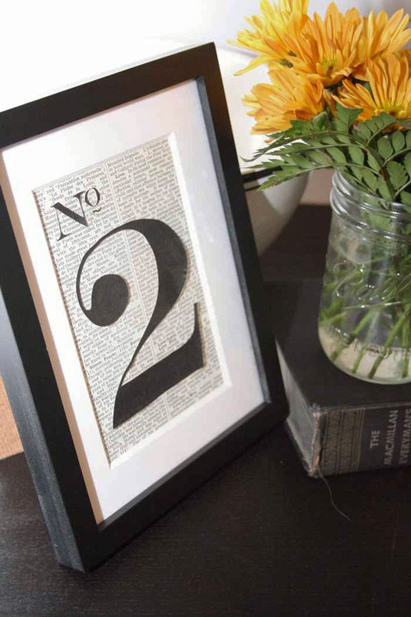 Silhouette Table Numbers