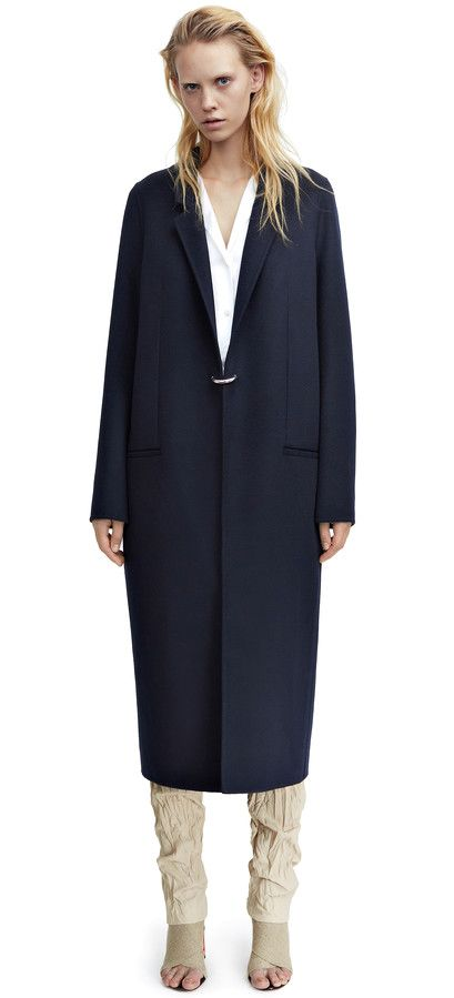 Foin double is a cashmere blend coat with a straight, menswear inspired fit #AcneStudios #Resort2015