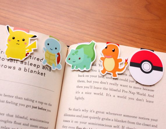 Hey, I found this really awesome Etsy listing at https://www.etsy.com/listing/175029226/pokemon-magnetic-bookmarks