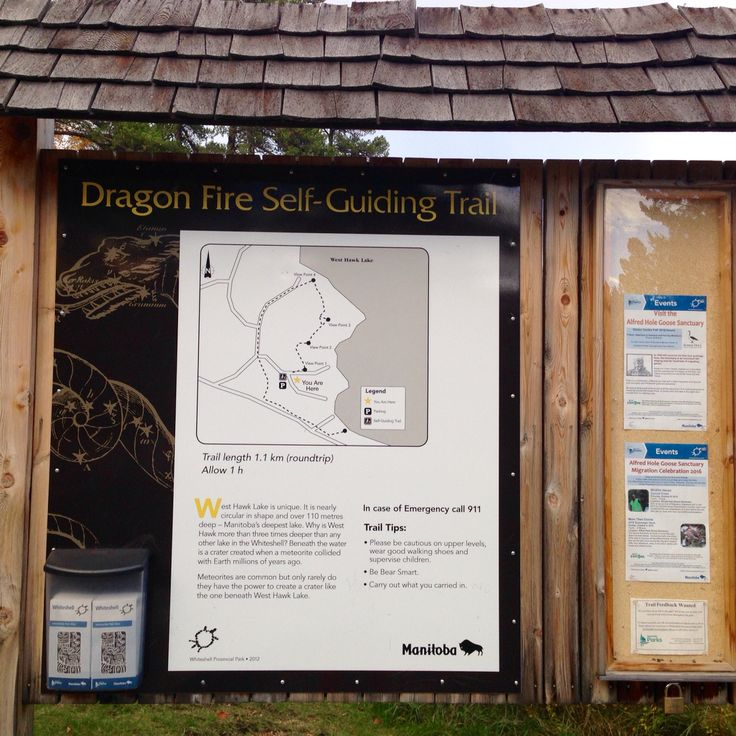 Trail Map 10/08/16 Dragon Fire Trail, Whiteshell Provincial Park, Mb  Photo by Michelle Lambert