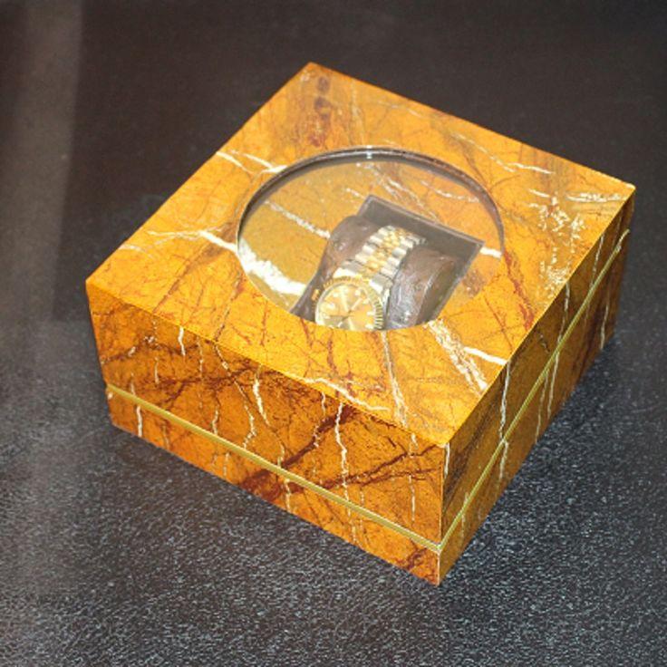 Мрамор Окно Смотреть Ящик Древесины Коробка Вахты с Подушкой Пакет Корпус Наручные Часы Коробки Для Хранения Ювелирных Изделий Коробка Подарка купить на AliExpress