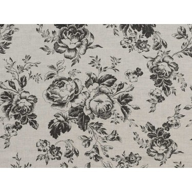 Beautiful fabric with grey roses