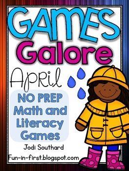 April NO PREP Math and Literacy Games