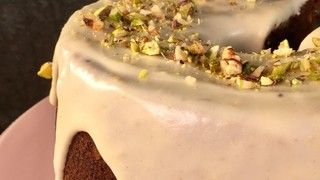 Holiday Cake Recipe 11/28/17 .. Improving on the Traditional Fruitcake .. uses dried figs, apricots, raisins, applesauce, grated carrots with a cream cheese glaze .. all of the hosts of The Chew loved it.