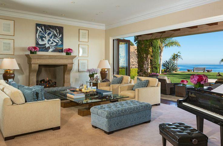 Yolanda Foster Malibu Mansion Living Room