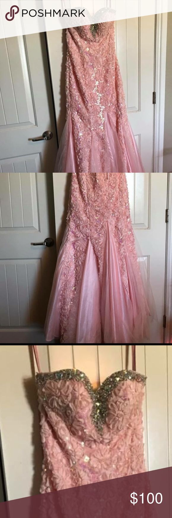 Blush Prom Dress Size 6, corset back, can fit down to a 4 Blush Dresses Prom
