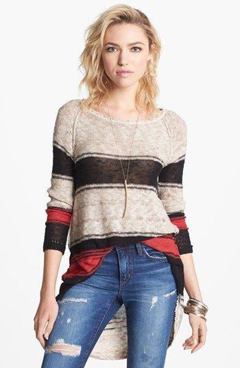 striped sweater high/low - super cute