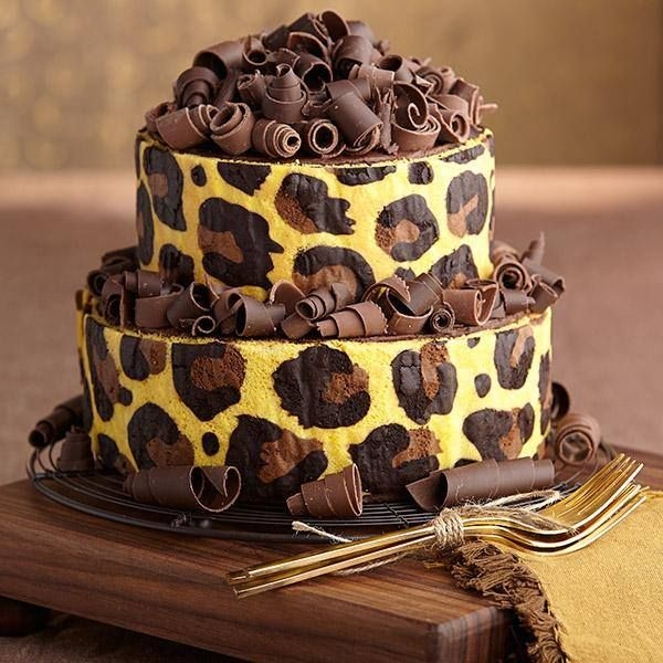Leopard Print Stand Up Inlay Cake Recipe
