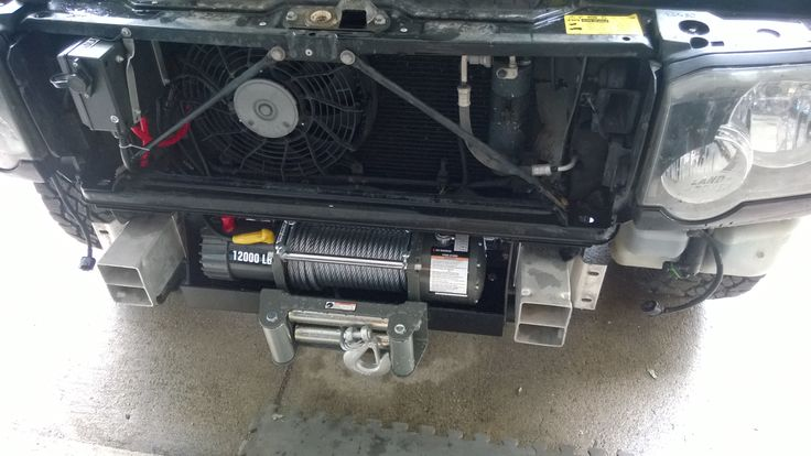 Discovery II 2003 hidden winch mount install - Land Rover Forums - Land Rover Enthusiast Forum