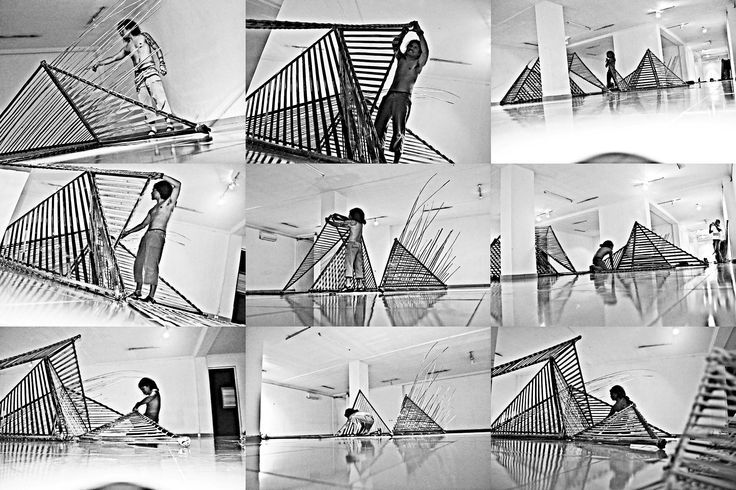 """assembly process art installation """"urbansex"""" at the National Gallery of Indonesia  #artexhibition #urbansex #agusiswahyudi"""