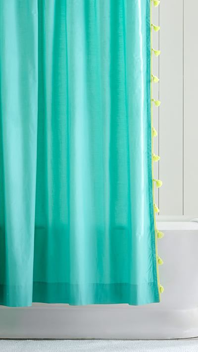 1000 ideas about turquoise shower curtains on pinterest - Turquoise and yellow curtains ...