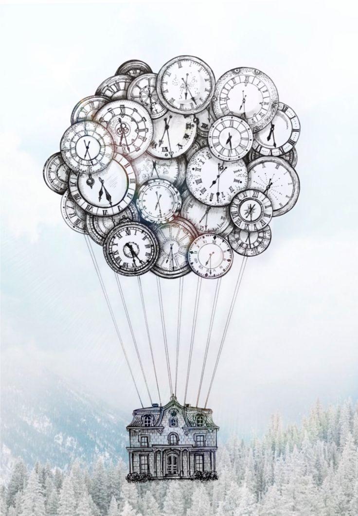 illustration earth sky ship globe balloon inspiration travel house time history
