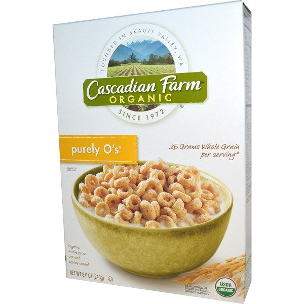 Cascadian Farm, Purely O's, Organic Whole Grain Oat and Barley Cereal, 8.6 oz (243 g)