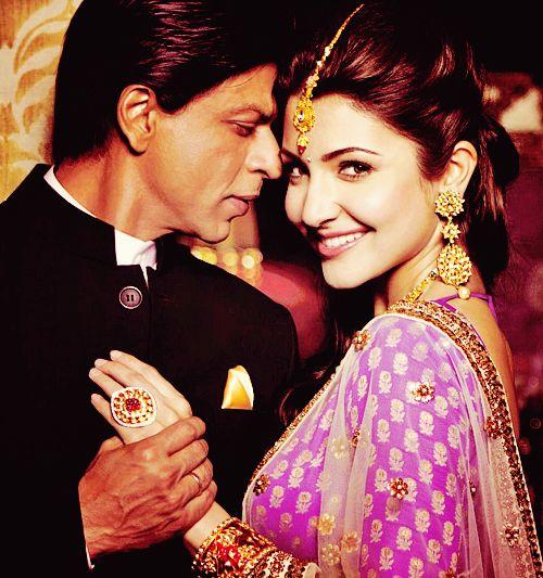 Shahrukh Khan and Anushka Sharma - photo used in Gitanjali Jewels print media ad campaign.