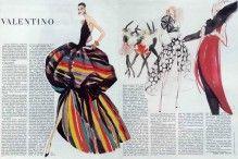 バレンチノ(クチュール)1982テキストアンドレ·レオン·タリー、イブニングドレス