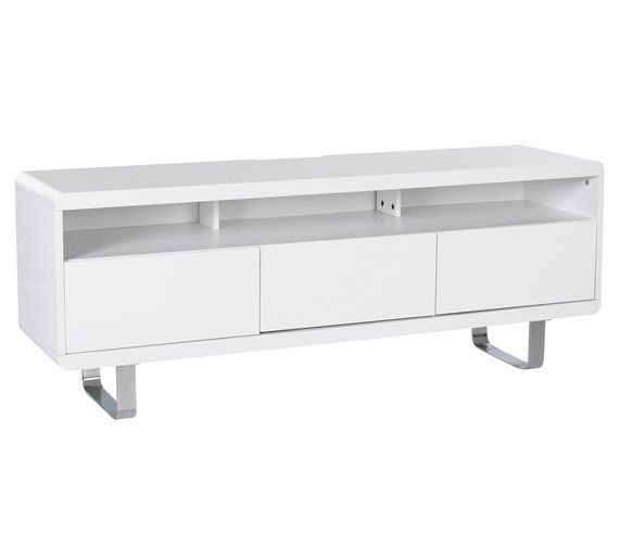 Buy Hygena Sleigh 2 Door Large TV Unit - White Gloss at Argos.co.uk, visit Argos.co.uk to shop online for Entertainment units and cabinets, Living room furniture, Home and garden