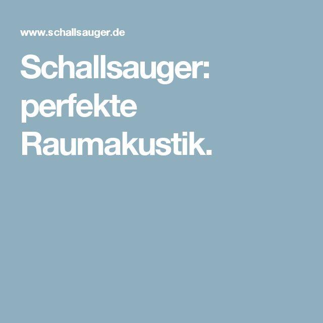 Schallsauger: perfekte Raumakustik.