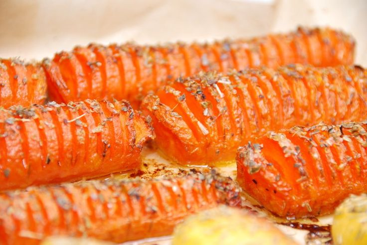 Gulerødder a la hasselback med timian