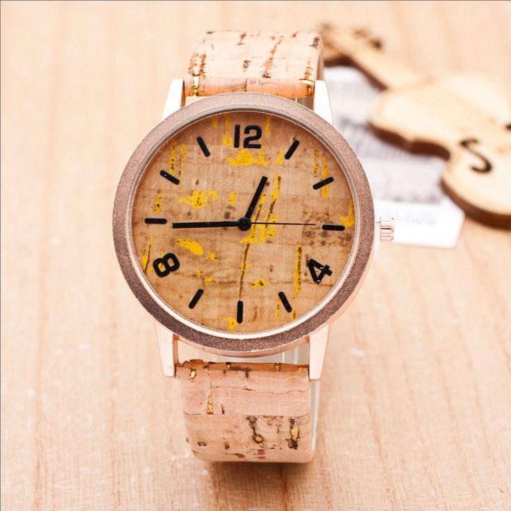 Fashion Imitation Wooden Watch Casual Popular PU Leather Quartz Couples Watches Women relogio feminino Clock Hours saat