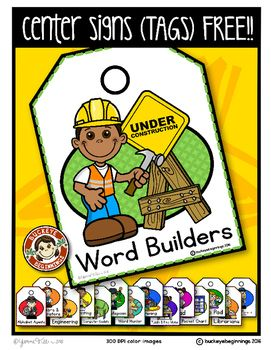 PRODUCT DESCRIPTIONCenter Signs Rebranded:  I have come up with new names for some of the centers so that the students know that they have a task to do in the center and they understand that even students work and there is a label for it.  I made the many  centers labeled with Career Connections!