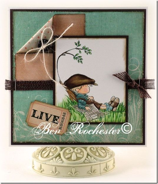 LOTV image, card designed and coloured by Bev