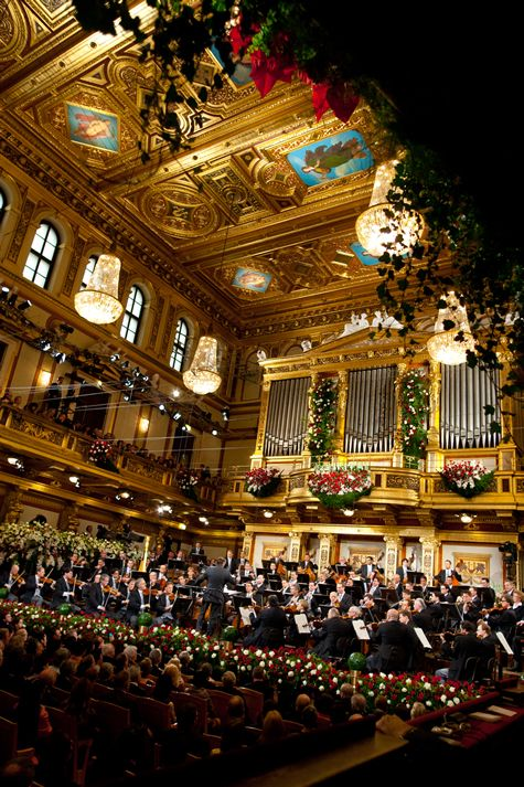 """The New Year Concert of the Vienna Philharmonic      takes place    each year in the morning of January 1 in Vienna, Austria.    As far as I can think back -   each New Year's Day I've listen to this concert  which gives me such a wonderful start,  """"waltzing"""" into the new year!"""