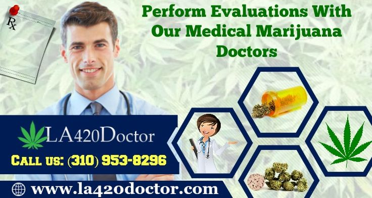 Get a medical marijuana card today, by performing an evaluation with our cannabis doctors in Los Angeles. Our LA420Doctor medical marijuana doctors offer fastest recommendation to acquire a cannabis card. For more information, contact us: (310) 953-8296.