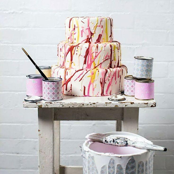 cómo decorar pasteles pintados a mano, Nevie-Pie Cakes