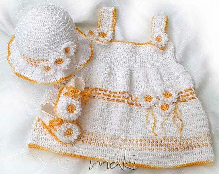 Mejores 417 imágenes de Crochet for Children en Pinterest | Vestidos ...