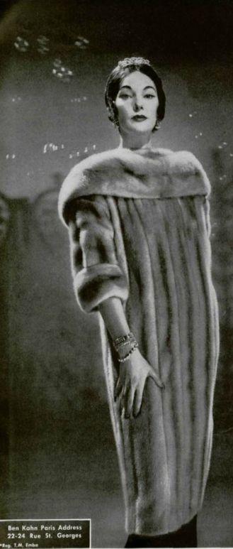 1958 STYLE  #vintage #fur #style