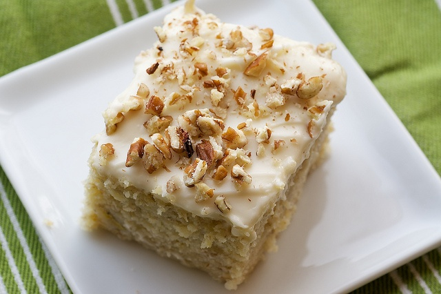 Banana Cake with Cream Cheese Frosting by bakeorbreak: Burritos, Cream Cheese Frostings, Recipes, Banana Cakes, Cream Chee Frostings, Baking, Bananas Breads, Bananas Cakes, Cream Cheeses