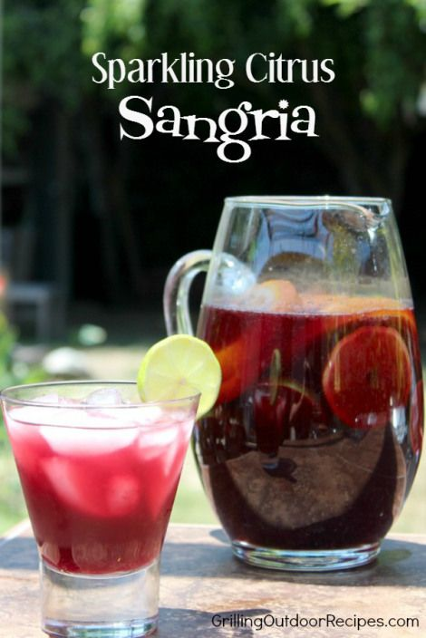 Sparkling Citrus Sangria - pin | Foods I want to try ...