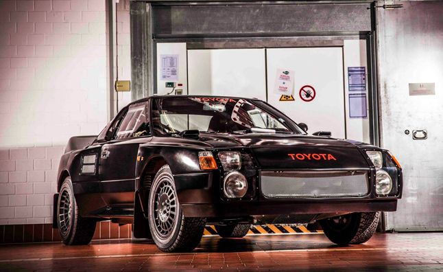 Toyota's Black Monsters the MR2 Rally Car You Never Knew About. For more, click http://www.autoguide.com/auto-news/2014/04/toyota-mr2-group-s-rally-car-past.html